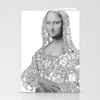 mona lisa Stationery Cards featuring Mona Lisa by nice to meet you