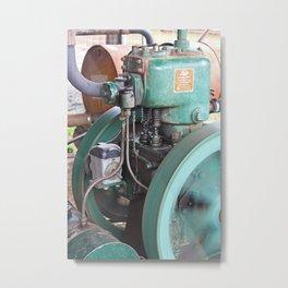 Lister Steam Engine. R A Lister Australia Pty Ltd. Salisbury Qld. Metal Print