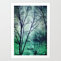 Wintergreen Twilight Art Print