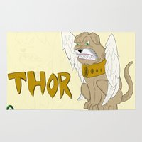 thor Area & Throw Rugs featuring Thor by QUED