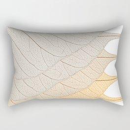 Leaves Orange Rectangular Pillow