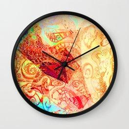 Red Heart Swirl Wall Clock