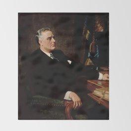 FDR Official Portrait Throw Blanket