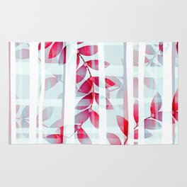 Abstract Foliage Pattern Rug