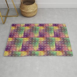 Checker colorful digital pattern Rug