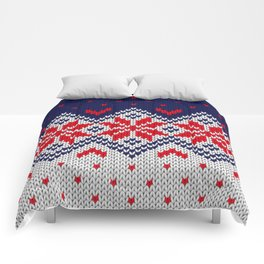 Winter knitted pattern 11 Comforters