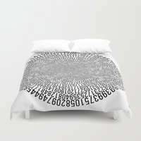 pi Duvet Covers featuring Pi - white by uchiclothing