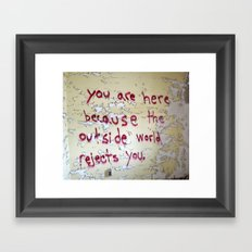 Rejection Framed Art Print