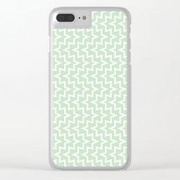 Sea Urchin - Light Green & White #609 Clear iPhone Case
