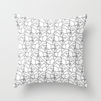 queens of the stone age Throw Pillows featuring Queens by muchö