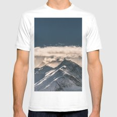 Mountains II #landscape photography White Mens Fitted Tee MEDIUM