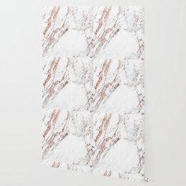 Rose gold foil marble Wallpaper