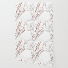 Rose gold foil marble Wallpaper