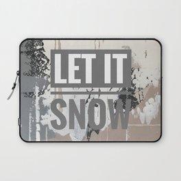 Snowfall - let it snow Laptop Sleeve