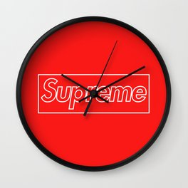 Supreme Outline Red Wall Clock