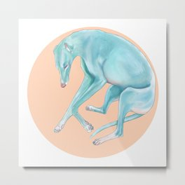 Resting Greyhound Metal Print