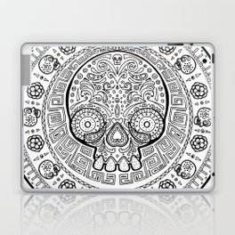 Skull mexican art from the Path to Mictlan Laptop & iPad Skin