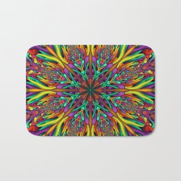 Crazy colors 3D mandala Bath Mat