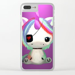 Punky Pony - Purple Clear iPhone Case
