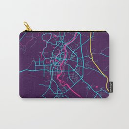 Guilin Neon City Map, Guilin Minimalist City Map Art Print Carry-All Pouch