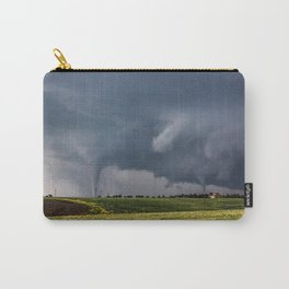 Twins - Two Tornadoes Touch Down Near Dodge City Kansas Carry-All Pouch