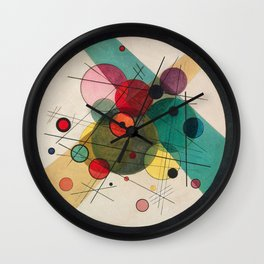 Kandinsky - Circles in a circle Wall Clock