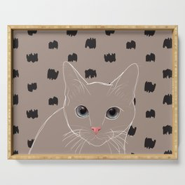Cat stare Serving Tray