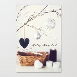 Feliz Navidad. Christmas Card Canvas Print