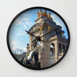 Ciutadella   Barcelona, Spain Wall Clock