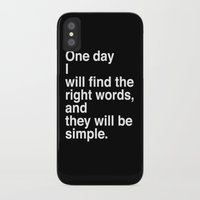 """kerouac iPhone & iPod Cases featuring Jack Kerouac Quote from """"On The Road"""": They Will Be Simple by Pewter + Twine"""