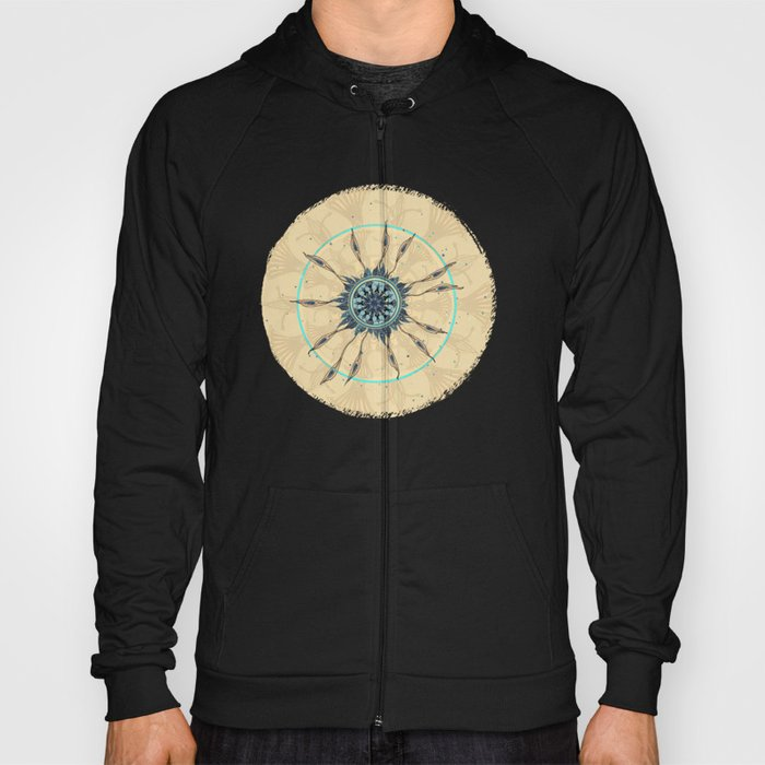 Abstract Peacock Deconstructed Hoody