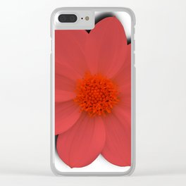 Coral Blossom Clear iPhone Case
