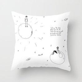 The Sun and Moon Throw Pillow