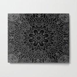 Tribal dark mandala Metal Print