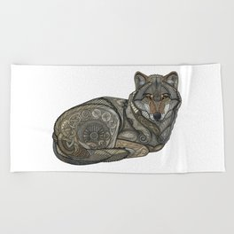 Norse Wolf Beach Towel