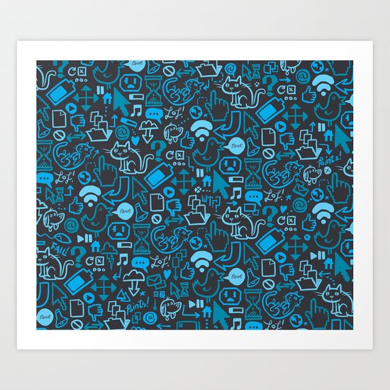 Interwebz Art Print