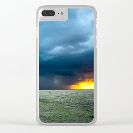 Regeneration - Storm Strengthens With Amazing Color in Texas Clear iPhone Case