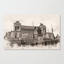 Altar of the Fatherland, Rome Canvas Print