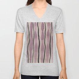 Purple watercolor Unisex V-Neck