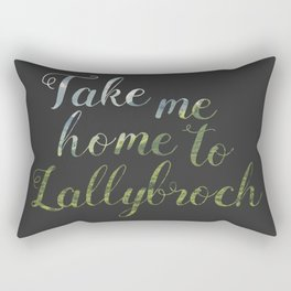 Take me home to Lallybroch Rectangular Pillow