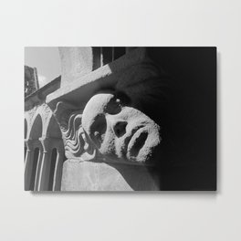 Face from Iona Abbey Metal Print