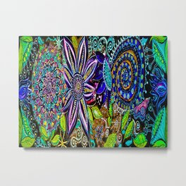Flora and Fauna Metal Print