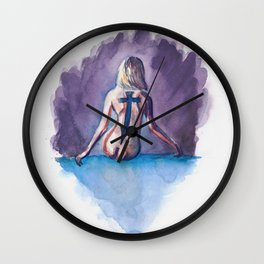 Going to hell #2 Wall Clock