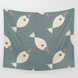 Wallpaper Fish  Petroleum Wall Tapestry