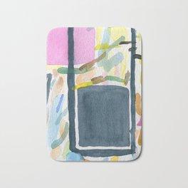 Abstract watercolor still life #2 Bath Mat
