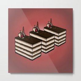 O is for Opera Cake Metal Print