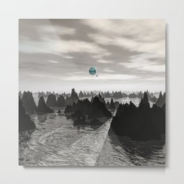 Mysterious Blue Orbs Metal Print