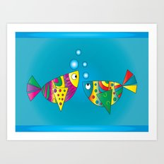 Fishy Fishy Art Print