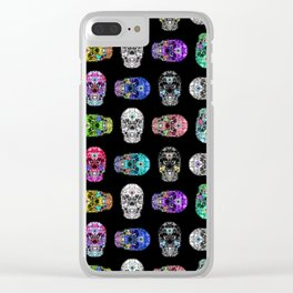 I love your Robotic Skull Heart on Black Clear iPhone Case