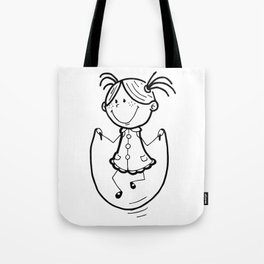 Little girl jumping rope Tote Bag